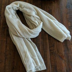 Free People Ivory/Cream Blanket Scarf/Wrap/Shawl